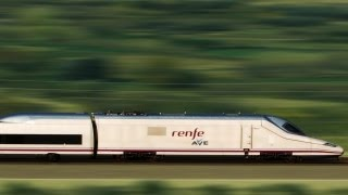 Ave train, high speed rail in Spain, HD