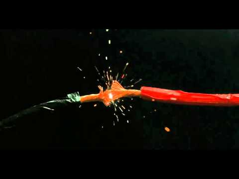 Electrical Wires Sparking Slow Motion