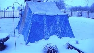 Winter Camping in a Hot Tent
