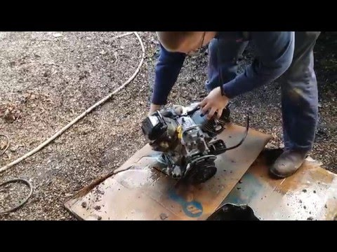 changing the motor on a miller bobcat 225 part 1