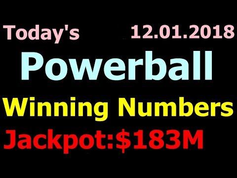 Today Powerball Winning Numbers 1 December 2018. Powerball Drawing 12/01/2018