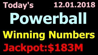 Today Powerball Winning Numbers 1 December 2018. Powerball Drawing 12/01/2018