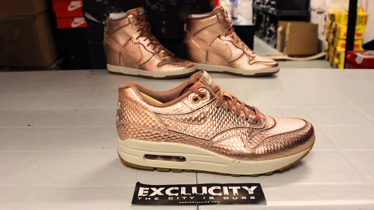 huge selection of 89ba1 c16d7 ... promo code for wmns air max 1 cut out prm bronze snake pack unboxing  video exclucity