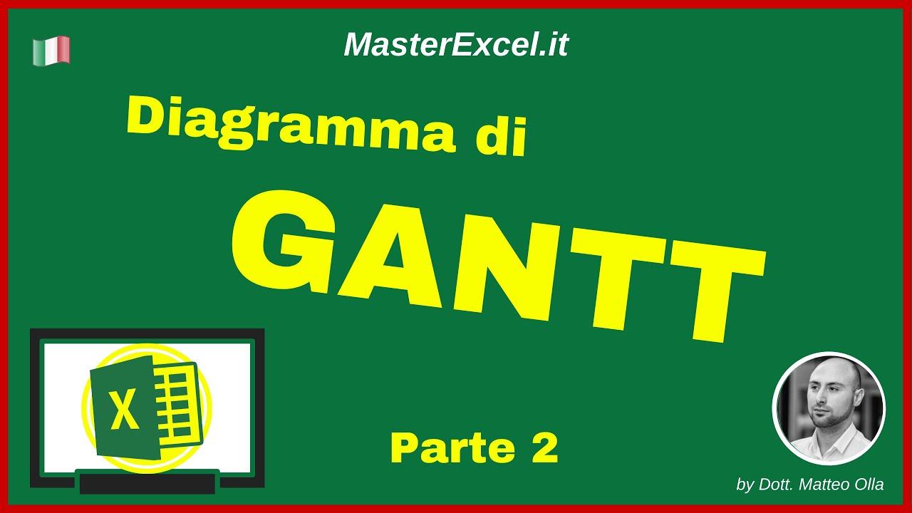 masterexcel it diagramma di gantt excel come creare il grafico di gantt su excel parte 2 [ 1280 x 720 Pixel ]