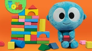 Pretend Play Building Block Wall | Surprise Toys Box | GooGoo & Gaga With Squishy Toys for Kids