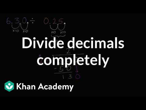 Dividing decimals completely   Arithmetic operations   5th grade   Khan Academy