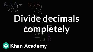 Dividing Decimals Completely