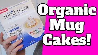 Organic MUG CAKES. It's a Foodstirs Mug Cake Taste Test!