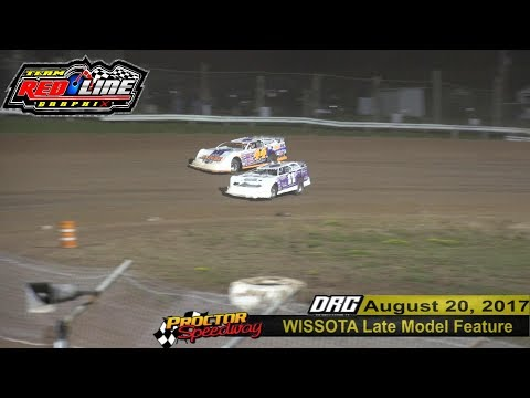 Tim McMann & Darrell Nelson battle for the lead 8/20/17 Proctor Speedway