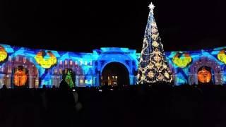 Лазерное шоу на Дворцовой площади 2016 - 2