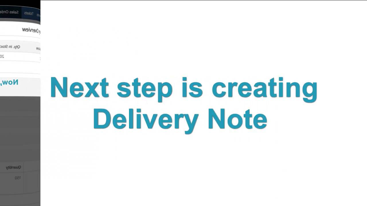 Warehouses You Sales OrderDelivery NotesInvoice Process YouTube - Invoice 4 you