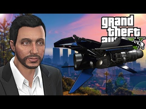 We Bought The Hover Bike And Robbed A Bank In GTA 5 Online! - GTA V Funny Moments