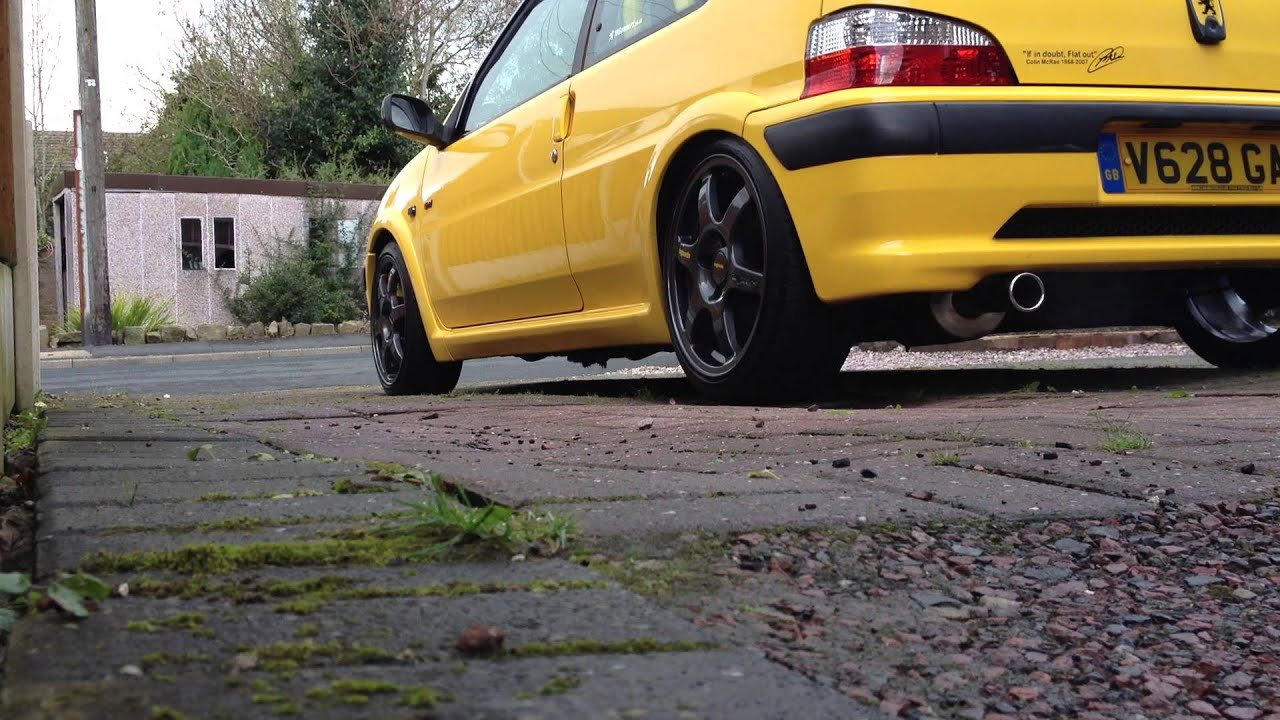 Kam Racing Group N exhaust Peugeot 106 GTI - YouTube