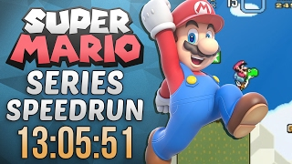 Super Mario Series Speedrun in 13:05:51 (Super Mario World)