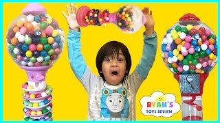 Giant Dubble Bubble Gumball Machine! My Little Pony gumball candy review! Bubble Gum Challenge