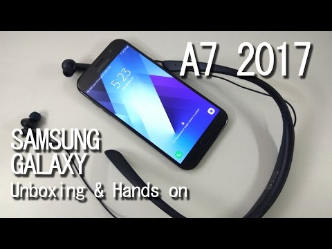 Samsung A7 2017 Unboxing & Hands on