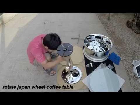 rotate japan wheel coffee table
