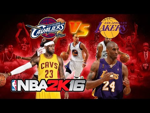 NBA 2K16 Gameplay - Cleveland Cavaliers vs Los Angeles Lakers - CAVS LAKERS NBA2K16