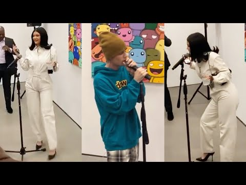 Kylie Jenner & Justin Bieber Perform Rise And Shine