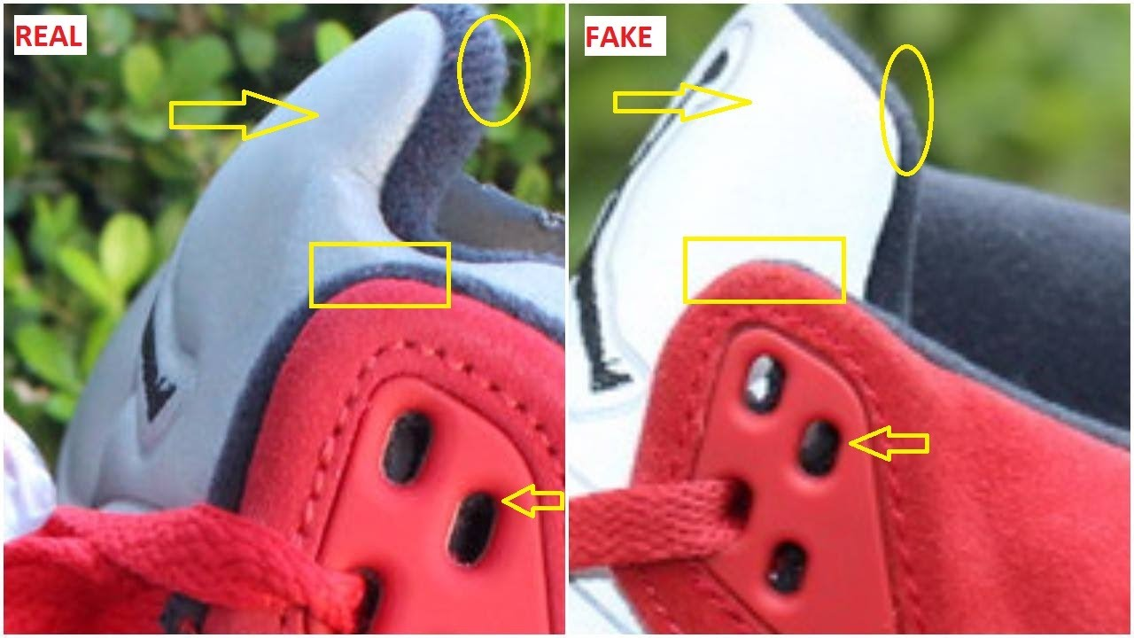 new concept ca9e4 e1d44 Fake Air Jordan 5 University Red Suede Spotted-Quick Ways To Spot Them