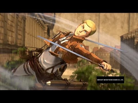 Attack on Titan Wings of Freedom Erwin(no cape) 99+Perfected Gear Gameplay