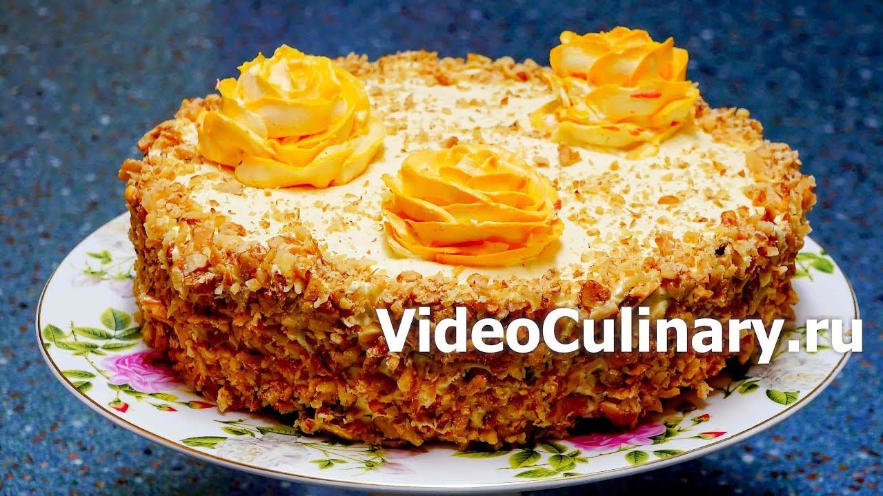 Самый простой бисквитный торт с заварным кремом - рецепт ...
