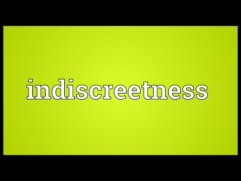 Header of indiscreetness