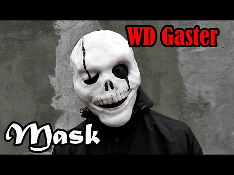 Как сделать маску WD Gaster из бумаги или пластика !!!