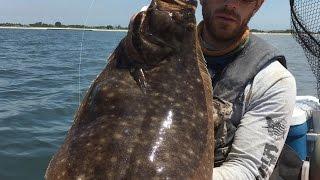 """10lb Fluke"" - Epic Flounder (Fluke) Fishing a Limit to 9.14lbs! - 6/20/2016"