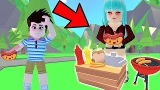 😱MI NOVIO SELLS HOT-DOGS, 🤑 ADOPT ME - ROBLOX