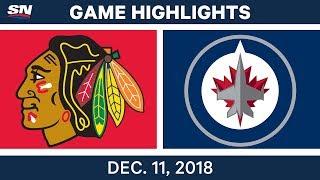 NHL Highlights | Blackhawks vs. Jets - Dec 11, 2018