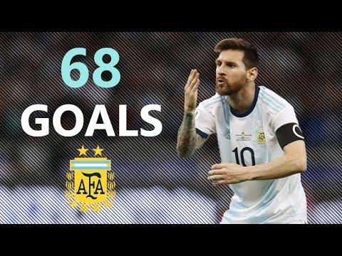 Lionel Messi All 68 Goals For Argentina 2006-2019