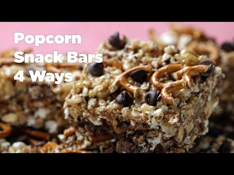 Popcorn Snack Bars 4 Ways Tasty - Cooking Shows