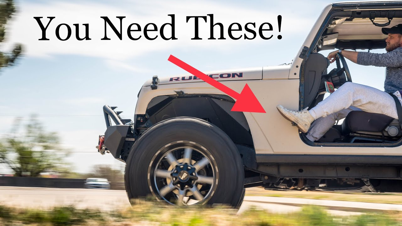 Must Have Mod For Doorless Jeeps Auxmart Foot Pegs Youtube