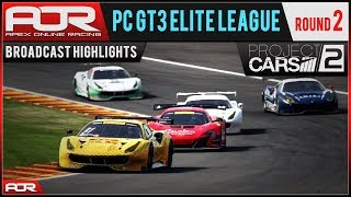Project CARS 2   AOR PC GT3 Elite League: S8 Round 2 - Spa (Broadcast Highlights)