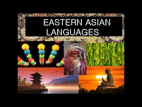 Eastern Asian languages