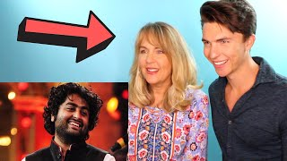 VOCAL COACH & his Mom react to Arijit Singh's AMAZING Live Vocals (Her first time hearing him)