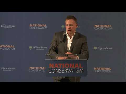 Peter Thiel: The Star Trek Computer Is Not Enough - National Conservatism Conference