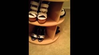 Tricky's Custom Cabinetry Lazy Susan Shoe Cabinet