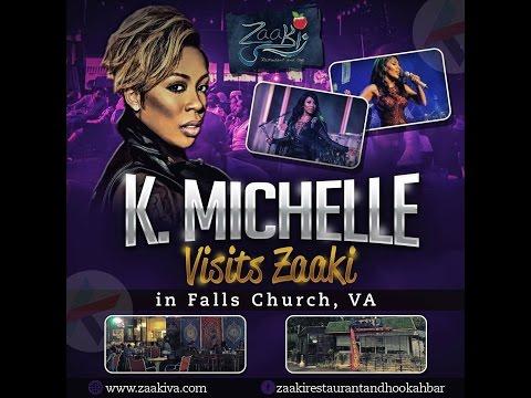R&B K. Michelle Visits Zaaki Restaurant And Hookah Bar In Falls Church, Virginia-Washington, DC