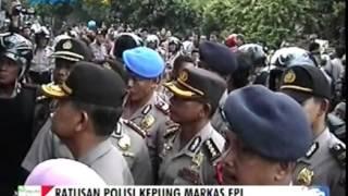 Anarkis FPI Bonyok , Polisi Kepung Markasnya