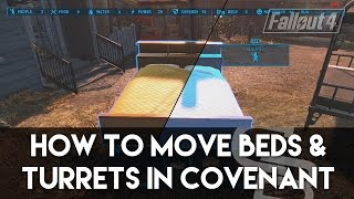 Fallout 4 - How To Move/Scrap Beds & Turrets In Covenant! (Fallout 4 Building Tutorial)