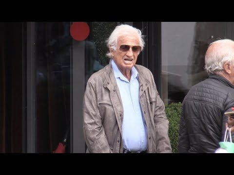 EXCLUSIVE - Jean Paul Belmondo and friends at Le Coq Restaurant in Paris