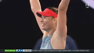 Tennis Channel Live: Maria Sharapova Knocks Out Defending Australian Open Champion Wozniacki