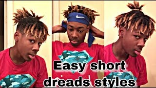 EASY How To Style Short Dreads!!! (Eyebrow Length)