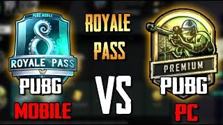 КАКОЙ ROYALE PASS ЛУЧШЕ? PUBG MOBILE ПРОТИВ PUBG НА ПК. PlayerUnknown's Battlegrounds