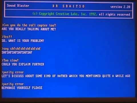 Dr. Sbaitso (1992) vs. Microsoft Sam