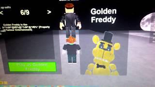 Roblox Fünf Nächte bei freddy golden freddy
