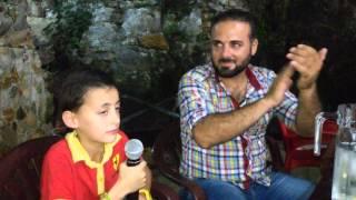 طفل يغني عتابا للأسد مع الفنان ابراهيم اسكندر