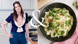 Simple Crab and Pea Shoot Pasta | F&W Cooks